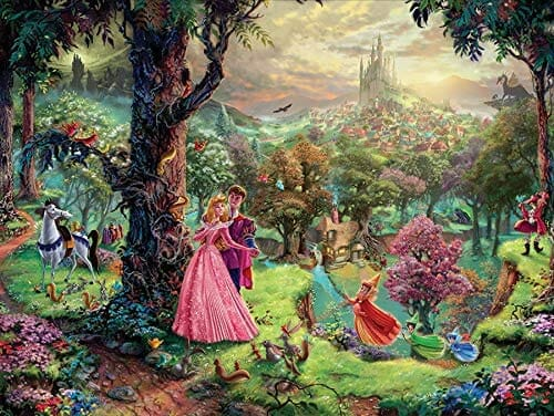 Sleeping Beauty Dancing in the Enchanted Light